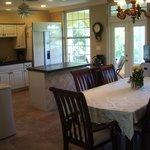 Dining & kitchen areas.