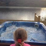 my little lady loved the hot tub :-)