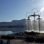 Osoyoos Fountain by Osoyoos Lake
