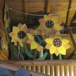 Decor in the loft of The Garden Patch