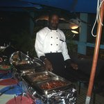 Outdoor Buffet with main Chef.