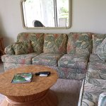Living room (spaciously dated).