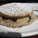 Cream Cheese Filled Blueberry Moon Cake