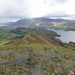 Bull Cragg looking north Cat Bells in the foreground & Derwent Water & Kewick in the back gr