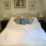 Bed in Richard Beau-Nash room on top floor