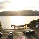Vue sur le Loch Ness à partir de notre chambre à l'étage