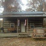 Old Glory Log Cabin