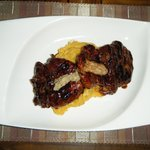 Amazing beef fillet with sweet potato mash