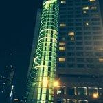 Lift shaft at night