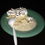 one of the many delish desserts...tres leches cake