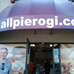 The front awning to All Pierogi Kitchen
