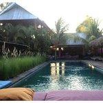 View von der Pool Lounge aus