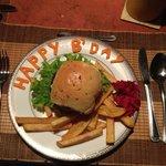 A birthday burger