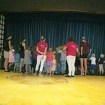 hands behind back as usual!! at kids club