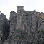 Preikestolen picture taken from the Lysefjord