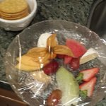 a little skimpy with the cheese and fruit platter