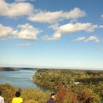 Niagara falls meets Lake Ontario