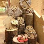 #Gufi da collezione in legno di recupero