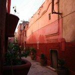 the lane of the Riad