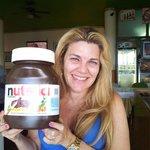 Minha amiga se encantou pelo pote de Nutella