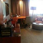Large work space and Nespresso machine