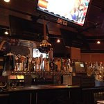 Good sports bar - lots of TVs and music during the ad breaks.