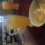 Green Peach tea and Egg drop soup