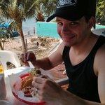 Crispy shell beef taco