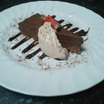 Chocolate and ginger torte with espresso Chantilly cream