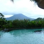 Main pool with view of Arenal volcano