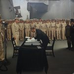 The Surrender of Japan Painting