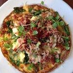 Open omelette- delicious