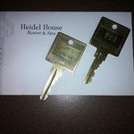 Metal keys very old fashion and charming