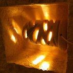 Lampada in pietra leccese