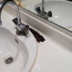 Market Dom: Öffentliches WC mit durchgefaulter Ablage