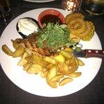 Mixed steak with chicken