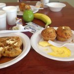 Love Texas Waffles, Banana Nut Muffins, Blueberry Muffins, Chocolate Muffins,Eggs,Bagels,Bacon,F
