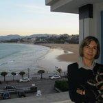 La playa de El Sardinero desde la terraza de la habitación