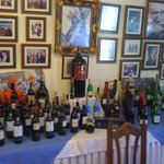 Wine on display in dining area