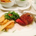The sirloin steak.... Beautiful!