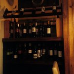 Wine selection in the restaurant