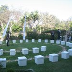 Wedding venue garden