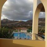 vue de la piscine de notre balcon