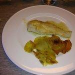 Filet de poulet et le 1/8ème de pomme de terre en lamelles