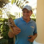 have your photo taken with Simona the Squirrel monkey