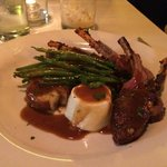 molasses marinated lamb chops with goat cheese panna cotta