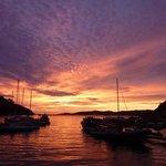 coucher de soleil sur le port