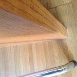 Der Dreck zwischen Stuhl und Schreibtisch, der bis zum 3. Tag zu sehen war