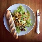 Fish curry salad with Baby Biku