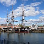 USS constitution ( 45 mins walk from hotel )